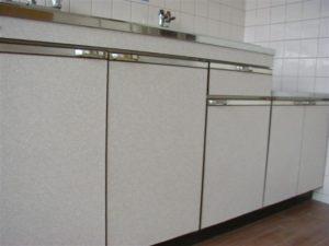 キッチン扉シート工事
